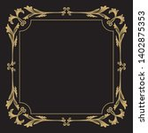 thin gold decorative frame. an... | Shutterstock .eps vector #1402875353