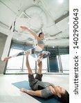 strong sport couple. strong... | Shutterstock . vector #1402900643