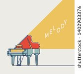 cool vector live music themed... | Shutterstock .eps vector #1402903376