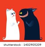 good vs evil cute characters.... | Shutterstock .eps vector #1402905209