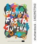 festa junina  vector... | Shutterstock .eps vector #1402907543