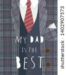 happy father's day  cute vector ... | Shutterstock .eps vector #1402907573