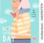 happy father's day  cute vector ... | Shutterstock .eps vector #1402907579