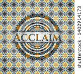 acclaim arabesque emblem.... | Shutterstock .eps vector #1402914173