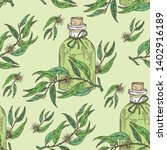 seamless pattern with tea tree... | Shutterstock .eps vector #1402916189