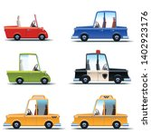 car flat icon set. collection... | Shutterstock .eps vector #1402923176