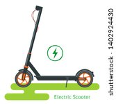 electric scooter on the road.... | Shutterstock .eps vector #1402924430