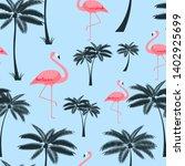 palm leaf seamless pattern... | Shutterstock .eps vector #1402925699
