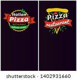 italian pizza restaurant set... | Shutterstock . vector #1402931660