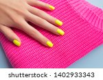 stylish trendy female manicure. ... | Shutterstock . vector #1402933343