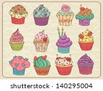 hand drawn sketchy set of... | Shutterstock .eps vector #140295004