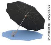 black umbrella casting a shadow.... | Shutterstock . vector #140295739