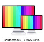 vector computer display... | Shutterstock .eps vector #140296846