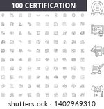 certification line icons  signs ... | Shutterstock .eps vector #1402969310