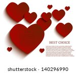 vector heart background. eps10 | Shutterstock .eps vector #140296990