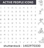 active people line icons  signs ... | Shutterstock .eps vector #1402970330