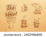 set of toilet symbols in retro...   Shutterstock .eps vector #1402986800