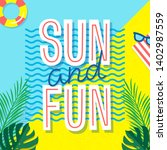 Sun And Fun. Summer Poster....