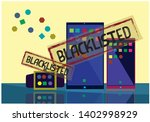 blacklisted technology and...   Shutterstock .eps vector #1402998929