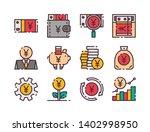 yuan simple color line icon....