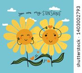 you are my sunshine couple... | Shutterstock .eps vector #1403002793