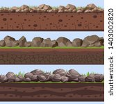soil seamless layers ground... | Shutterstock .eps vector #1403002820