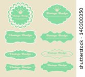 a set of vintage design labels... | Shutterstock .eps vector #140300350