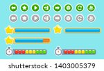 vector set of cute buttons for...