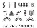 metal spring set spiral coil...   Shutterstock .eps vector #1403010233