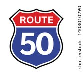 50 route sign icon. vector road ...   Shutterstock .eps vector #1403010290