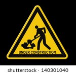 under construction road sign... | Shutterstock . vector #140301040