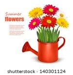 fresh summer flowers in orange... | Shutterstock .eps vector #140301124