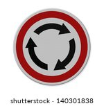 roundabout crossroad road... | Shutterstock . vector #140301838