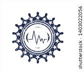 blue electrocardiogram icon... | Shutterstock .eps vector #1403022056