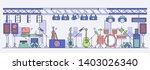 rock concert preparing. stage... | Shutterstock .eps vector #1403026340