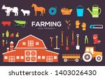 set of farm objects and... | Shutterstock .eps vector #1403026430