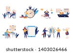 set of scenes with efficient... | Shutterstock .eps vector #1403026466