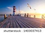 Lighthouse At Lake Neusiedl At...