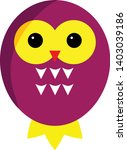 purple owl cartoon character.... | Shutterstock .eps vector #1403039186