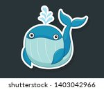 vector cute cartoon whale... | Shutterstock .eps vector #1403042966