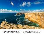 portuguese coast  cliff into... | Shutterstock . vector #1403043110
