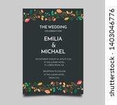 floral wedding invitation ... | Shutterstock .eps vector #1403046776