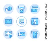 credit card vector line icons... | Shutterstock .eps vector #1403050469