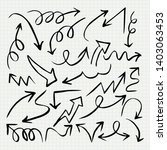 doodle arrow set   vector...   Shutterstock .eps vector #1403063453