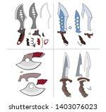 a set of vector cartoon... | Shutterstock .eps vector #1403076023