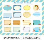 frame set that imaged summer... | Shutterstock .eps vector #1403083343