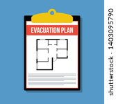 Evacuation Plan In Clipboard ...