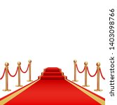 red carpet. golden fencing and... | Shutterstock .eps vector #1403098766