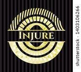 injure shiny emblem. vector...   Shutterstock .eps vector #1403106266