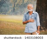 elderly caucasian sweating and... | Shutterstock . vector #1403108003